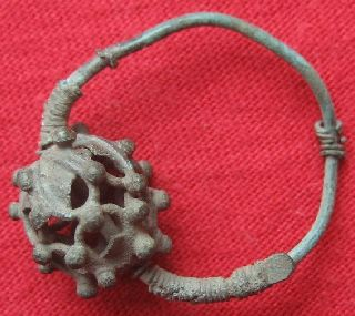 Ancient Roman Bronze Earring 25mm 0266 photo