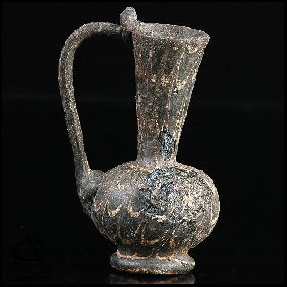 Ancient Roman Glass Ewer Bottle Vessel Handled ~ Early Islamic Afghanistan 2. 96 photo