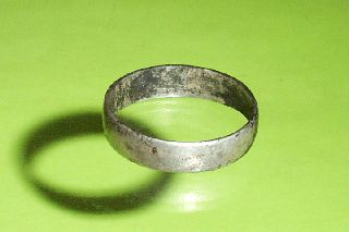 Ancient Roman Silver Ring Wedding Band Mens Size 10 Old Jewelry Antique photo