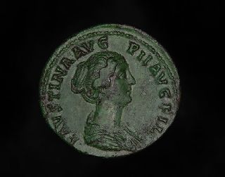 Ancient Roman Empress Faustina The Younger Junior Venus Sestertius Coin photo