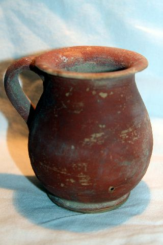 Ancient Roman Pottery Redware Cup 3/4th Century Ad photo