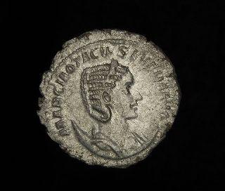 Roman Silver Antoninianus Coin Otacilia Severa photo