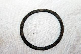 Wearable Ancient Roman Bronze Bangle Bracelet 1/2nd Century Ad photo