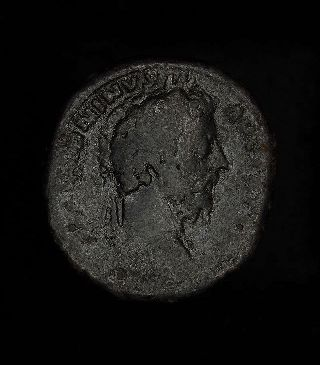 Ancient Roman Marcus Aurelius Sestertius - Captives Coin photo