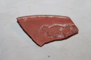 Ancient Roman Lion Shard 4th Century Ad photo