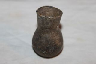 Ancient Roman Glass Flask 2/3rdcentury Ad photo