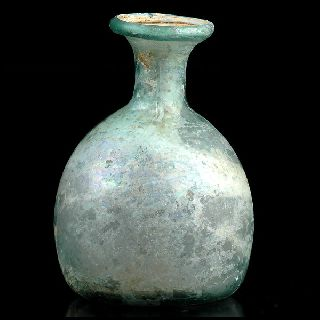 Ancient Roman Glass Bottle Vessel Iridescent ~ Early Islamic Afghanistan 2. 55