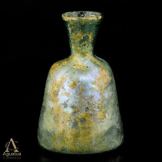Ancient Roman Glass Bottle Highly Iridescent ~ Early Islamic Afghanistan 4. 56