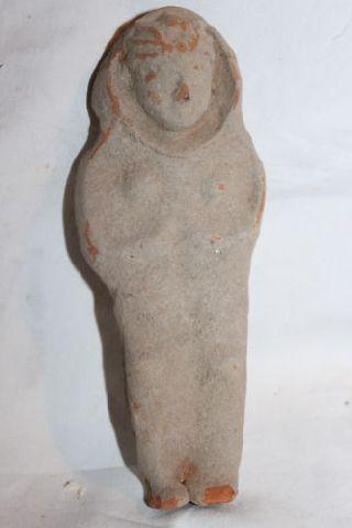 Ancient Roman Pottery Female Figure 4th Ad photo