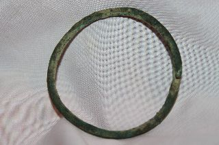 Ancient Roman Bronze Bangle Bracelet 1/2nd Century Ad photo