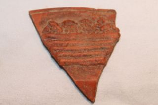 Ancient Roman Pottery Basket Of Grapes Shard 4th Samian photo