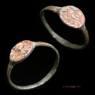 Ancient Roman Ring Bronze Seal Mels - Antiquities photo