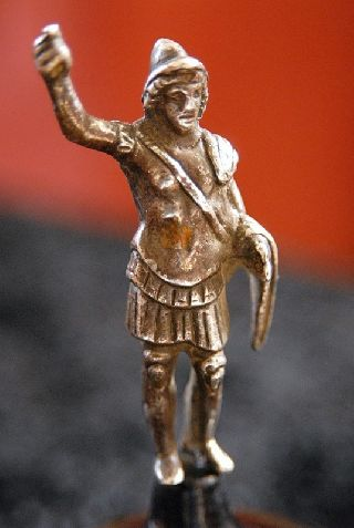 Roman Solid Silver Statuette Of Gladiator photo