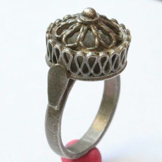 Medieval Silver Filigree Ring photo