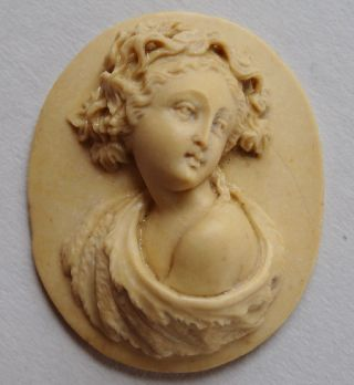 Perfect Italian Lava Cameo - Roman Style 19th Century 29/24mil - - - 1,  1/0,  9 Inches photo