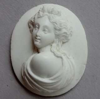 Perfect Italian Lava Cameo - Roman Style 19th Century 29/24mil - - 1,  1/0,  9 Inches photo