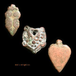 3 Ancient Roman Bronze Moun Decoration Mels - Antiquities photo