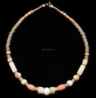 Ancient Roman Terracotta Necklace 1 - 3 Ad Jewellery R32 photo