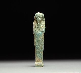 Ancient Egyptian Faience Shabti / Ushabti Figure photo
