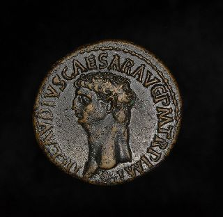 Ancient Roman Emperor Claudius Dupondius Ceres Coin photo