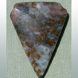 A Triangular Tabular Shaped Ancient Agate Pendant Bead Mali 57 photo