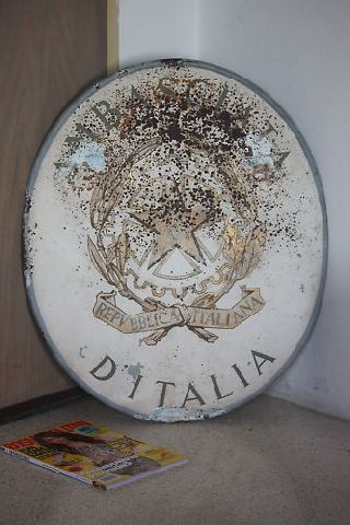 Italy Embassy Sign Consulate Antique Ambasciata Ditalia photo