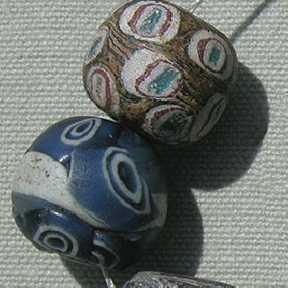 6 Excellent Roman Islamic Ancient Eye Beads Mali West Africa 7 photo