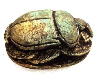 Antique Scarab Egypatian Handmade Pharaoh Paperweight Rare Statue Decor Beetle photo