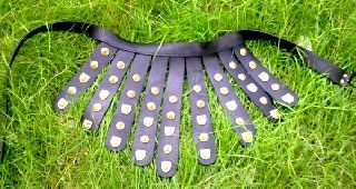 Roman Leather Legion Apron Armor Belt Reenactment Roman Armory Larp Replica Prop photo