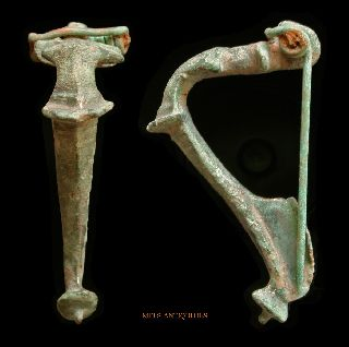 Roman Bronze Fibula Kraftig Profilierte Mels - Antiquities photo
