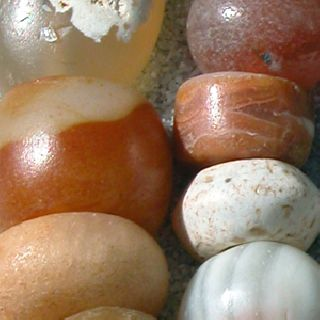 Strand Ancient Carnelian Agate Stone Beads Mali 88 photo