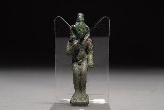 Ancient Egyptian Bronze Harpocrates Statuette photo