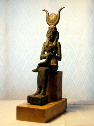 Egyptian Bronze Isis And Horus photo