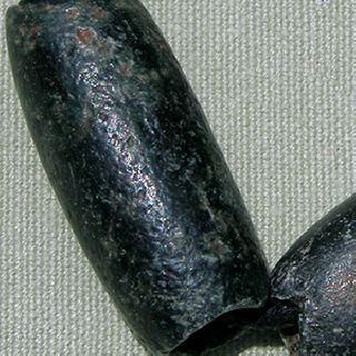 4 Large Ancient Black Stone Serpentine Beads Mali Mauritania 22 photo