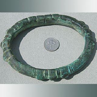 Ancient Ornate Bronze Copper Alloy Bracelet Nigeria 9 photo