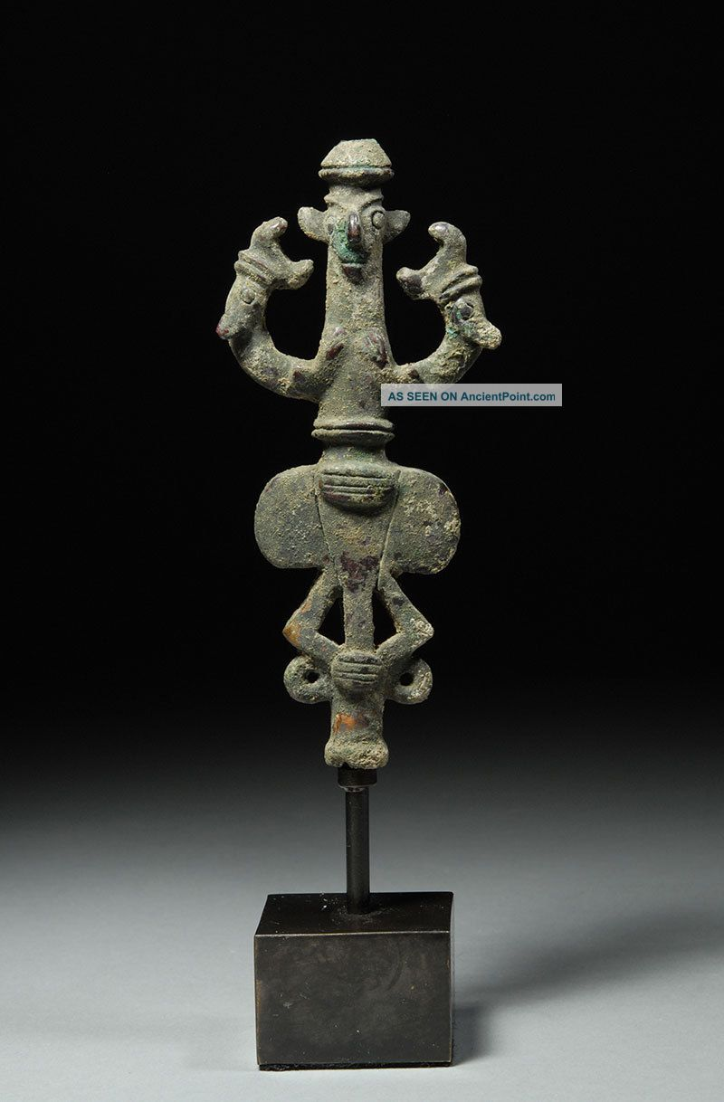Ancient Iron Age Luristan Anthropomorphic Standard Finial Near Eastern photo