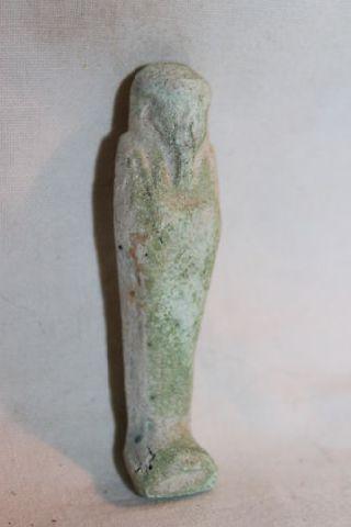 Ancient Egyptian Faience 30th Dyn Ushabti photo