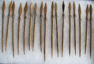 17 Iron Age Spears Bura Civilization 800 - 1000 Yrs Old With Case photo