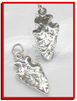 Arrowhead Sterling Silver Charm.  925 X 1 Arrows Archaeology Charms Sssc025 photo