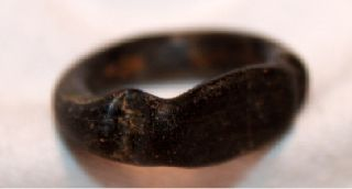 Roman/egypt Glass Finger Ring 1st Century Bc/ad photo