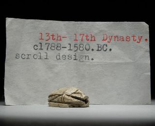 Ancient Egyptian Steatite Scarab Beetle photo