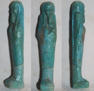 Quality Ancient Egyptian Ushabti 26th Dyn photo