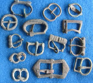 Fantastic 14 Buckles With Tounge/ Great Britian Apx1500 - 1700 A.  D. photo