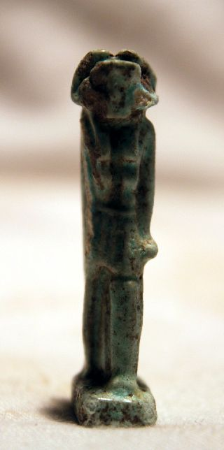 Ancient Egyptian Faience Amulet 30th Dyn photo