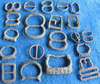 Fantastic 20 Buckles/ Great Britian Apx1500 - 1700 A.  D. photo