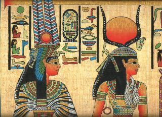 Egyptian Papyrus Handmade Painting 40x60 Cm Size (16