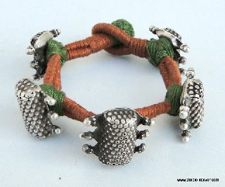 Ancient Antique Ethnic Tribal Old Silver Bracelet India photo