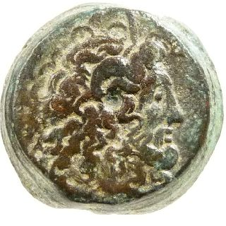 Ptolemy Vi Zeus Ammon Eagle Æ Bronze Coin Greek Ptolemaic Kings Of Egypt Cyrene photo
