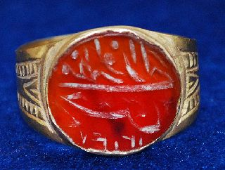 Islamic Medievale Gold Ring With Camea 19mm/5.  16g / 140 / photo