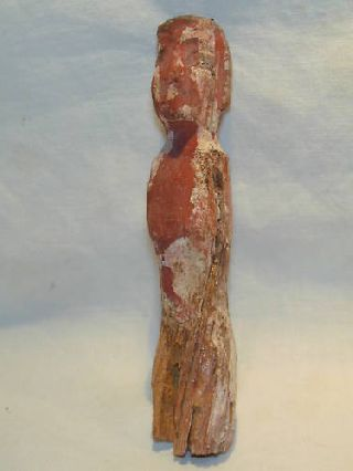 Ancient Egyptian Middle Kingdom Wooden Figure C.  2000 Bc photo